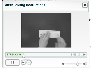 Video short shows you how to fold