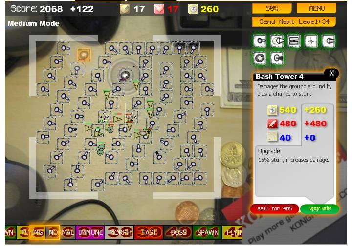 Desktop Tower Defense Gameboard by Paul Preece