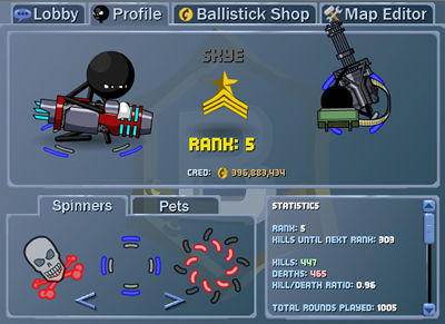 Ballistick - new features include, custom spinners, pets, a store, a map maker and editor