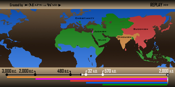 History of Religion by MapsofWar.com