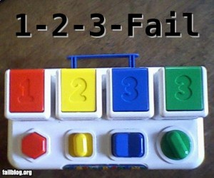 Learning to count fail