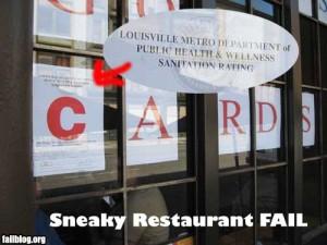 Sneaky Restaurant Fail