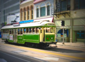 Trolley in Memphis - Tilt Shift Image by Tilt Shift Generator