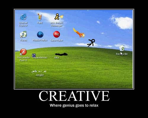 Motivational Poster - Creative - Where genius goes to relax.