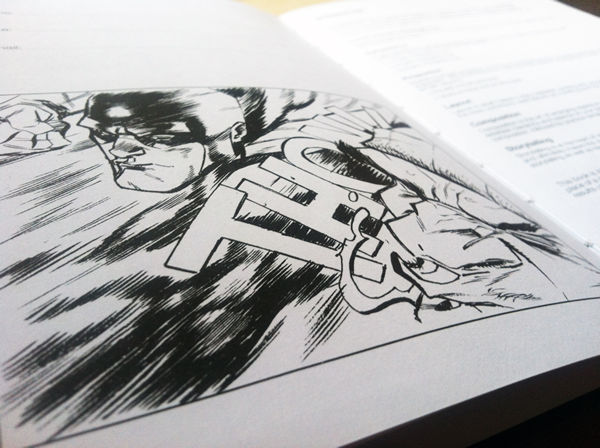 I DRAW COMICS inside the book