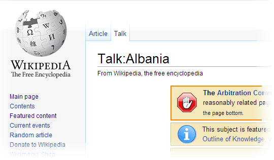 Albania's Talk Page